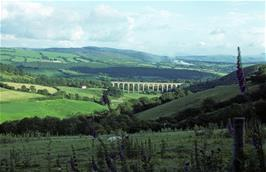 Looking back at the Cycghordy viaduct from near Hafod-y-Pant