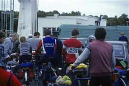 The group being loaded onto the ferry at Mallaig