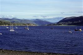View across Little Loch Broom from Ullapool youth hostel